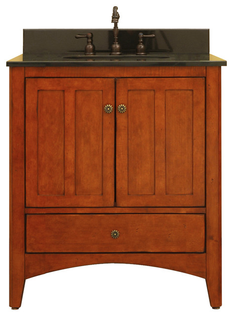 """Expressions 30"""" Assembled Vanity, 2 Doors, 1 Bottom Drawer contemporary-bathroom-cabinets-and ..."""