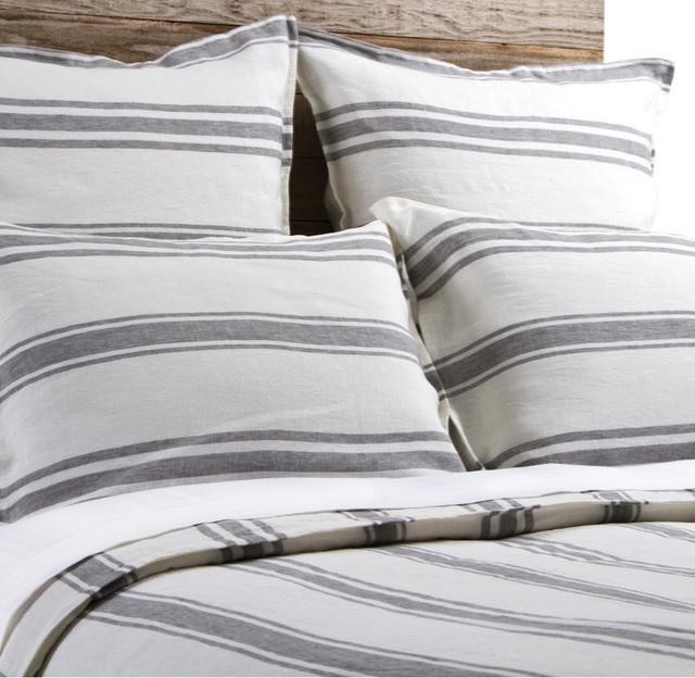 Jackson Cream and Grey King Duvet Duvet Covers And