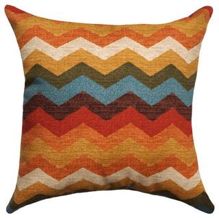 "Panama Chevron Throw Pillow, 20""x20"" - Contemporary - Decorative Pillows - other metro"