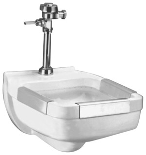 Clinical Service Sink : -Mount Clinic Service Sink in White - Contemporary - Bathroom Sinks ...