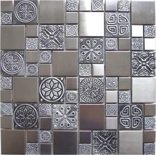 Metal Mosaic Tile Products By Eden Mosaic Tile Eclectic