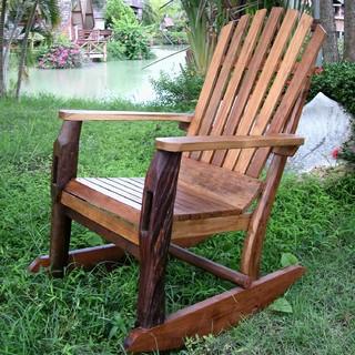 Groovy Stuff Adirondack Teak Wood Rocking Chair TF 483 Modern Adirondac