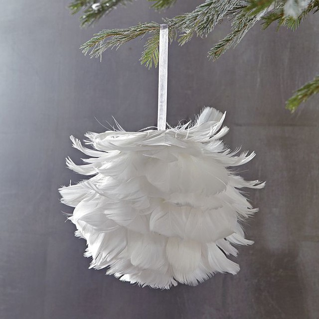 ... Credit image. Feather Christmas Tree Decorations  Xmas is the only  festivity that ...