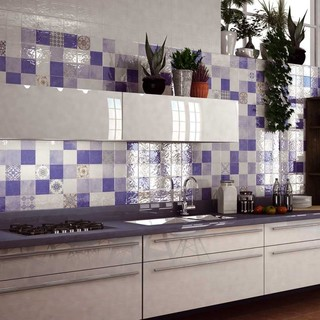 Ayora Blue Wall Tiles - Pattern Tiles - Direct Tile Warehouse