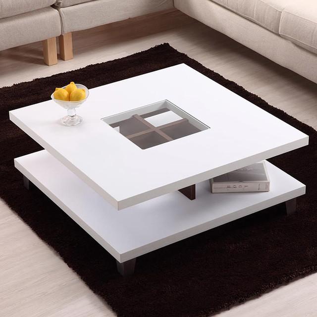 Furniture Of America Helena White And Walnut 2 Leveled
