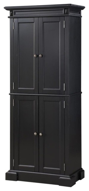 americana black pantry transitional pantry cabinets by home styles furniture