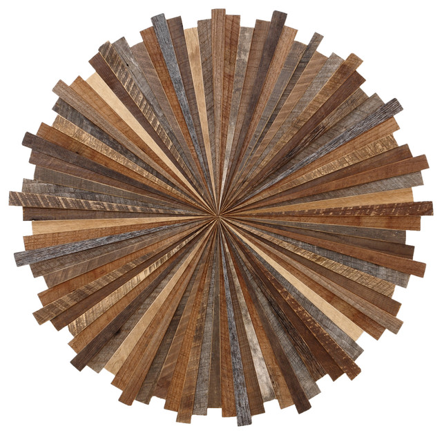 Starburst Wood Wall Art Made With Old Reclaimed Barnwood