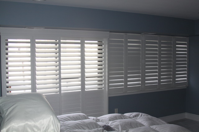 Hunter Douglas Shutters Contemporary Bedroom Other