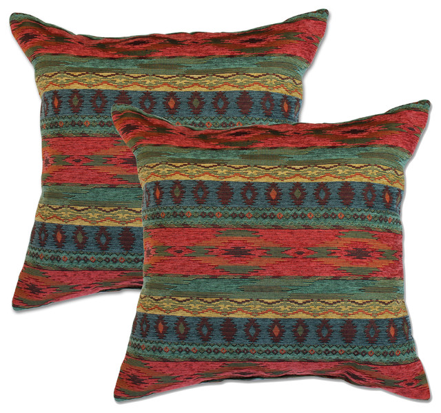 Southwestern Pillows And Throws : Phoenix Sunset Accent Pillows, Set of 2 - Southwestern - Decorative Pillows - by Big Tree ...