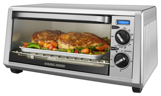 B&D Stainless Toaster Oven 4 Slice Countertop - Contemporary - Toaster Ovens - by muzzha!