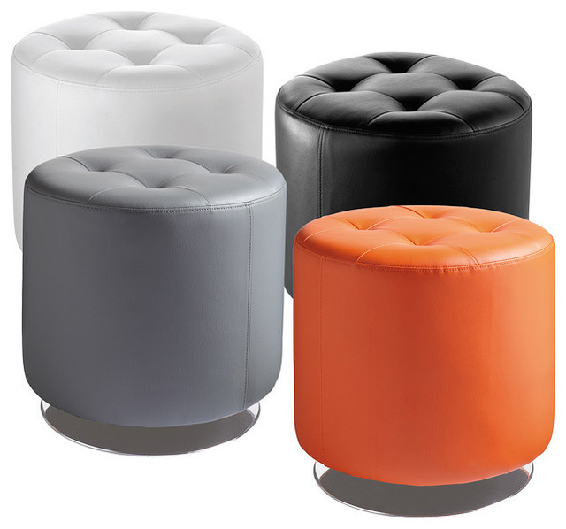 Sunpan 'Domani' Swivel Ottoman Small - Contemporary - Footstools And Ottomans - by Overstock.com