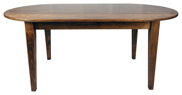 Oval Country Farmhouse Dining Table Farmhouse Dining Tables by Fable Porch