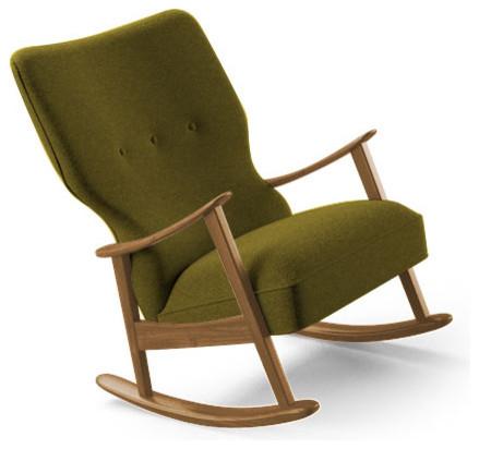 ... Rocking Chair - Key Largo Grass Green - Midcentury - Rocking Chairs