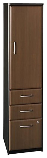 Bush Series A Vertical File Storage Cabinet in Sienna Walnut/Bronze - Transitional - Filing ...