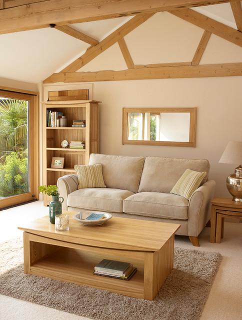 Tokyo Solid Oak Living Room Modern Living Room By