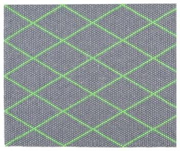 s b dot teppich electric green 80 x 100 cm hay design bauhaus look teppichl ufer von found4you. Black Bedroom Furniture Sets. Home Design Ideas
