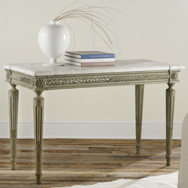 Modern History Home Carved And Painted Console Table