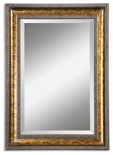 uttermost sinatra gold vanity mirror traditional