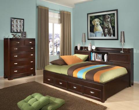 Sideways Bookcase Storage Lounge Bed