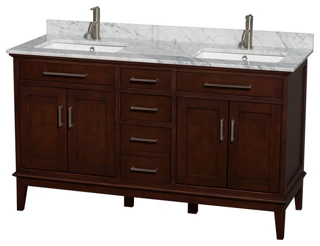 Eco Friendly Transitional Double Bathroom Vanity Contemporary Bathroom Vanities And Sink Consoles