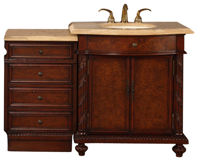52 in single sink bathroom vanity contemporary bathroom - 52 inch bathroom vanity double sink ...