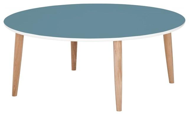 Couchtisch Juri III Eiche-Petrol - Modern - Coffee Tables ...