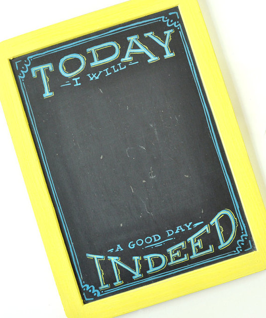 Mini Goals Chalkboard by Mary Kate McDevitt - Eclectic ...