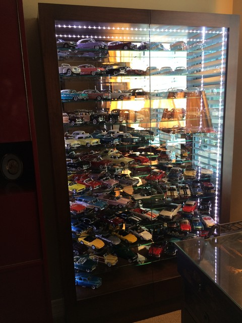 Custom model car display, toy display, toy car case, - Transitional - Display And Wall Shelves ...