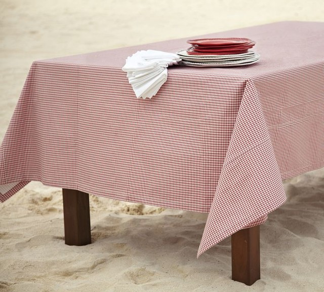 Gingham Check Outdoor Tablecloth Traditional  : traditional tablecloths from www.houzz.co.uk size 640 x 576 jpeg 112kB