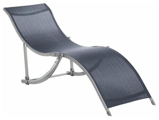 chaise longue bain de soleil pliable chaza contemporain chaise longue et m ridienne par. Black Bedroom Furniture Sets. Home Design Ideas