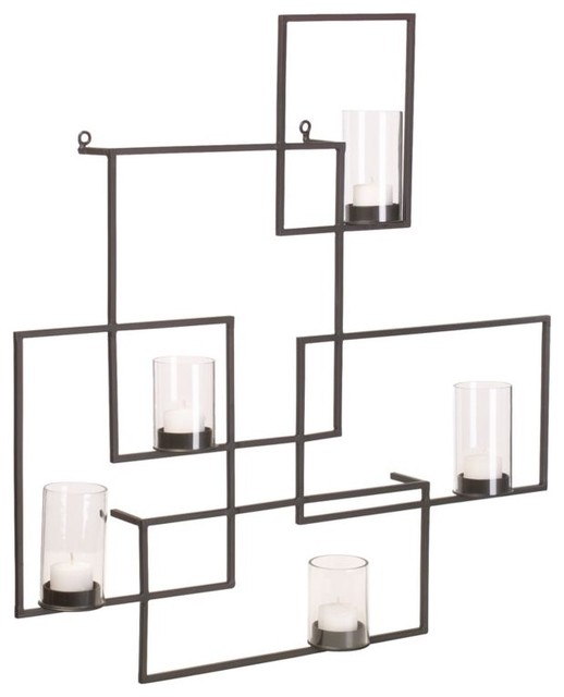 3 Light Wall Sconce Bronze : Boxes Wall Sconce - Contemporary - Wall Sconces - by CB2