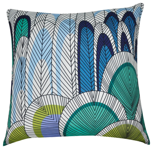 Decorative Pillows Feather : Abstract Feather Decorative Pillow - Decorative Pillows - by Loom & Mill