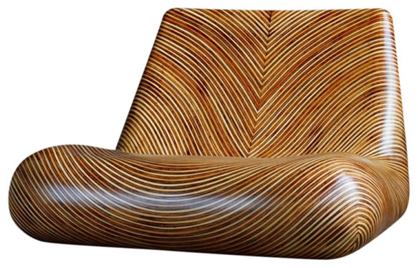 Merella lounge chair natural contemporary chaise for Chaise longue tours