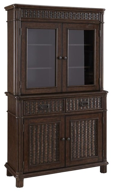 Castaway Buffet with Hutch - Tropical - China Cabinets And Hutches - by ShopLadder