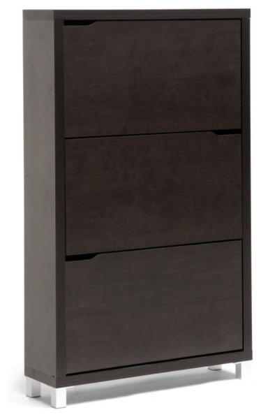 Simms Modern Shoe Cabinet, Dark Brown - Scandinavian ...