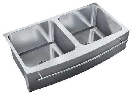 Just Double Bowl Apron Sink 19 5x36 Undermount Radius