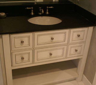 Open Bottom Vanity Contemporary Bathroom Vanities And