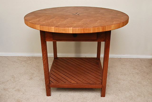 Cherry butcher block table traditional dining tables for Traditional dining table uk
