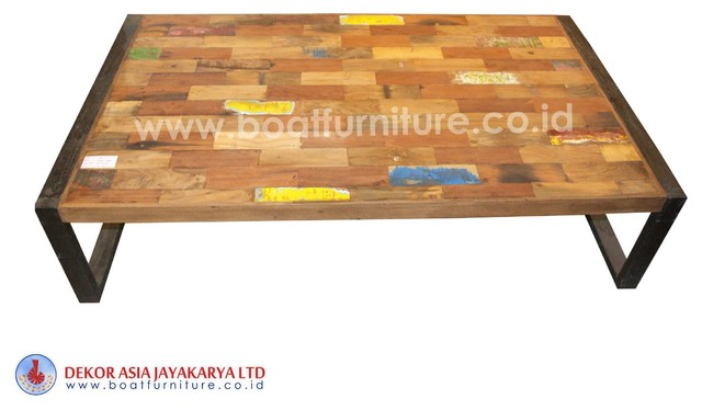 Boat wood coffee table boat furniture other metro di for Other uses for a coffee table