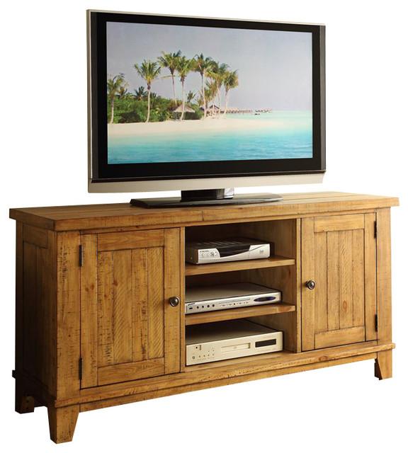 riverside furniture summerhill tv console in canby rustic pine modern