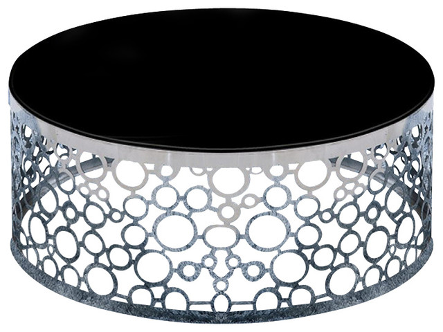 Zircon modern black glass top coffee table contemporary coffee tables
