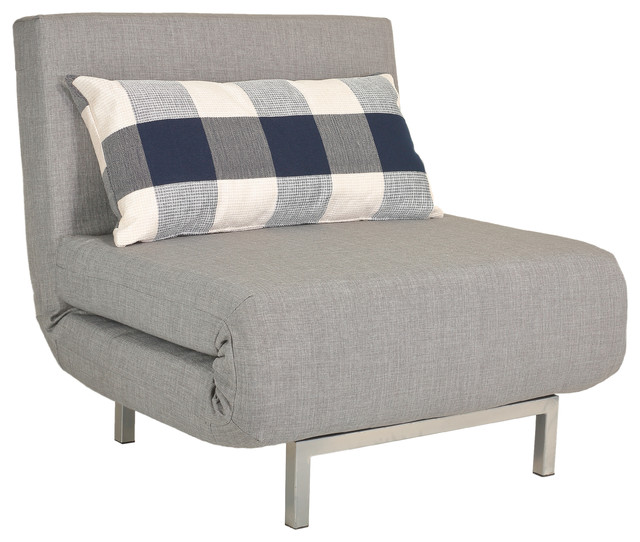 Savion Convertible Accent Chair Bed Gray Contemporary