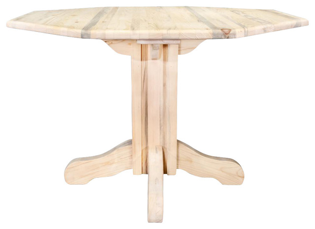 Center Pedestal Table Farmhouse Dining Tables By