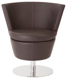Squire swivel chair modern armchairs accent chairs for Modern swivel accent chair