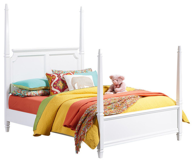 Standard Furniture Watercolor Kids 39 Poster Bed In White