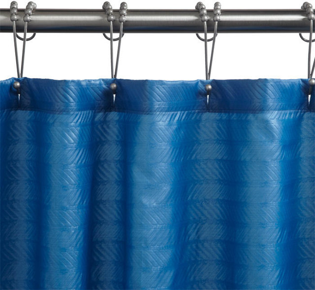 Polyester Chevron Shower Curtain Dark Teal Traditional Shower Curtains