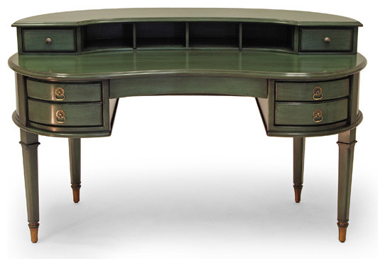 Palm Beach Curved Writing Desk Traditional Desks And