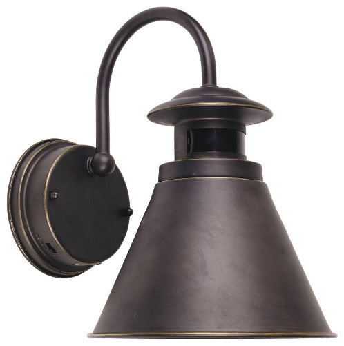 Outdoor Wall Lantern with Motion Sensor, Oil Rubbed Bronze Finish - Traditional - Security ...