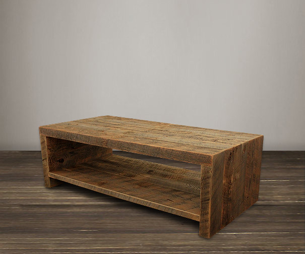 Saturia Rustic Reclaimed Wood ... - Collection Rustic Mission Reclaimed Wood Distressed Coffee Table