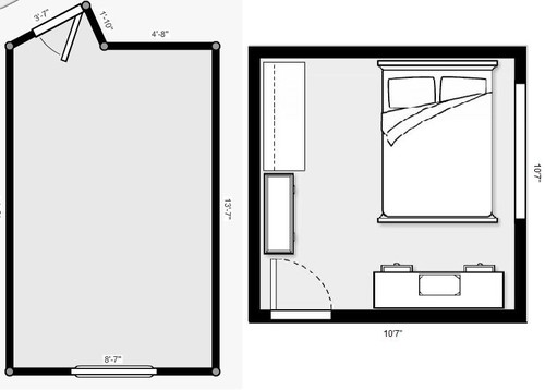 What Floor Plan Would Work In This Bedroom